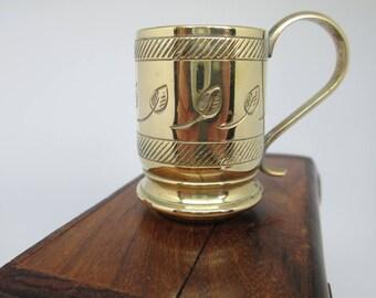 brass miniature tankard   brass stein   vintage tankard   collectible