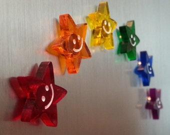 Rainbow Star Neodymium Magnets