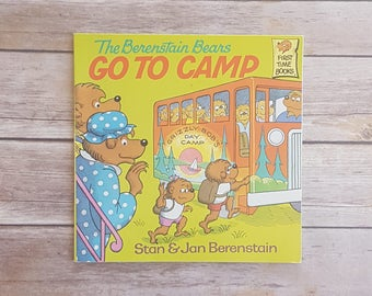 Classic 80s The Berenstain Bears Go To Camp Grizzly Bob's Day Camp Summer Camp Book Children's Summer Story Vintage Berenstain Mama Bear