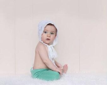 fabric Bonnet, Sitter Eyelace Fabric Bonnet