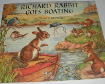 Richard Rabbit Goes Boating by Truda Mordue Vintage Softcover book 1978