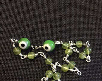Bracelet Against Jealousy Peridot Green Eyes