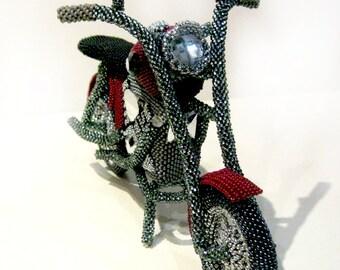 Pattern / Tutorial Beaded Ornament - Motorcycle Harley Bead
