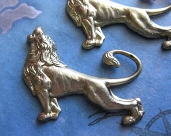 2 PC - Leo the Lion Brass Stamping - KK22