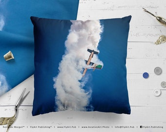 Airplane Pillow, Airplane Cushion, Throw Pillow, Pilot Gifts, Home Decor, Aircraft Pillow Case, Cover, Bedding, Al Fursan Al Emarat