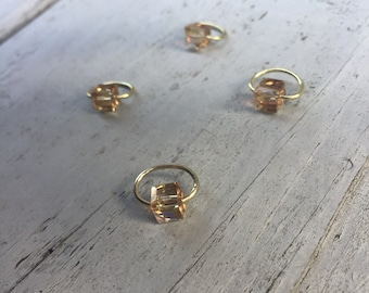 Gold Iridescence Stitch Marker Set
