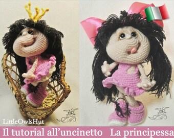 041It Il tutorial all'uncinetto La principessa. Amigurumi Toy - PDF Di Pertseva Etsy