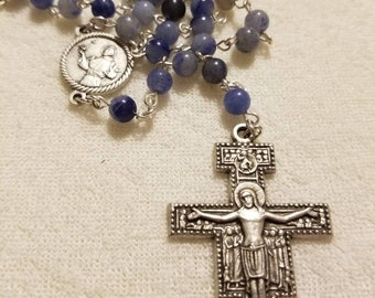 St. Francis Assissi devotional rosary with San Damiano cross