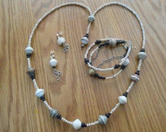 natural bead set
