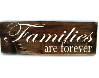 Rustic Wood Sign Wall Hanging Home Decor - Families are Forever (#1012)