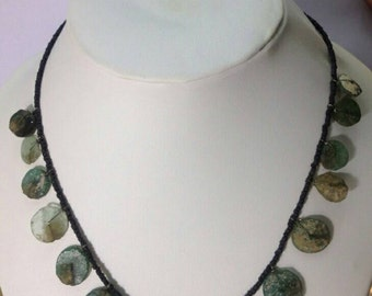 FREE Shipping Worldwide Afghanistan Roman Glass Beads Handmade Necklace Ancient Antique Old Jewelry