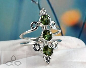 Peridot Ring, Peridot Gemstone, Peridot Jewellery, Designer Ring, 925 Sterling Silver, Silver Ring, Black Friday Sale, Engagement Ring