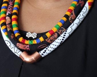 Ankara Rope Necklace