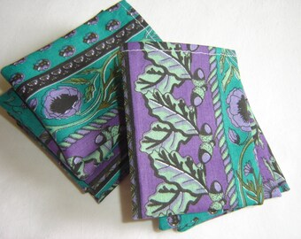 10 pockets cotton green and purple