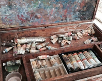 French, Artist Paint Box RESERVED for Marilyn