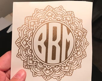 Mandala Monogram Decal