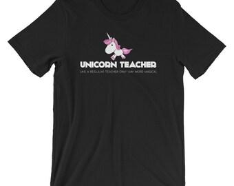 Unicorn Teacher Funny Cute Teaching Gift T-shirt