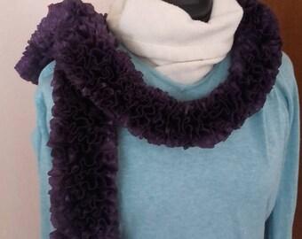 Brilliant purple scarf with Ruffles