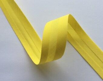 Bias Binding Bright Sunny Yellow 22 mm The Weavers Mill