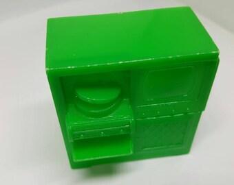 Marx Marxie Mansion tv stereo hi fi record player  Fits 3/4 Renwal Hard Plastic Green