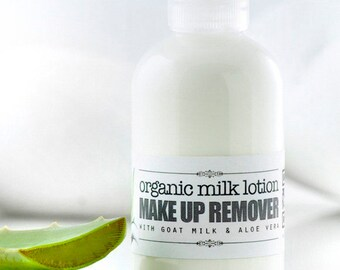 MAKE UP REMOVER • Organic Milk Lotion, milk face cleanser lotion, organic face de-makeup, organic skincare, bath and beauty, milk cleansing