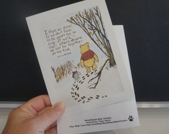 Classic pooh winnie the pooh greeting cards thinking of you classic winnie the pooh greeting card pooh quote about dreams thinking of you miss you all occasion saying goodbye m4hsunfo