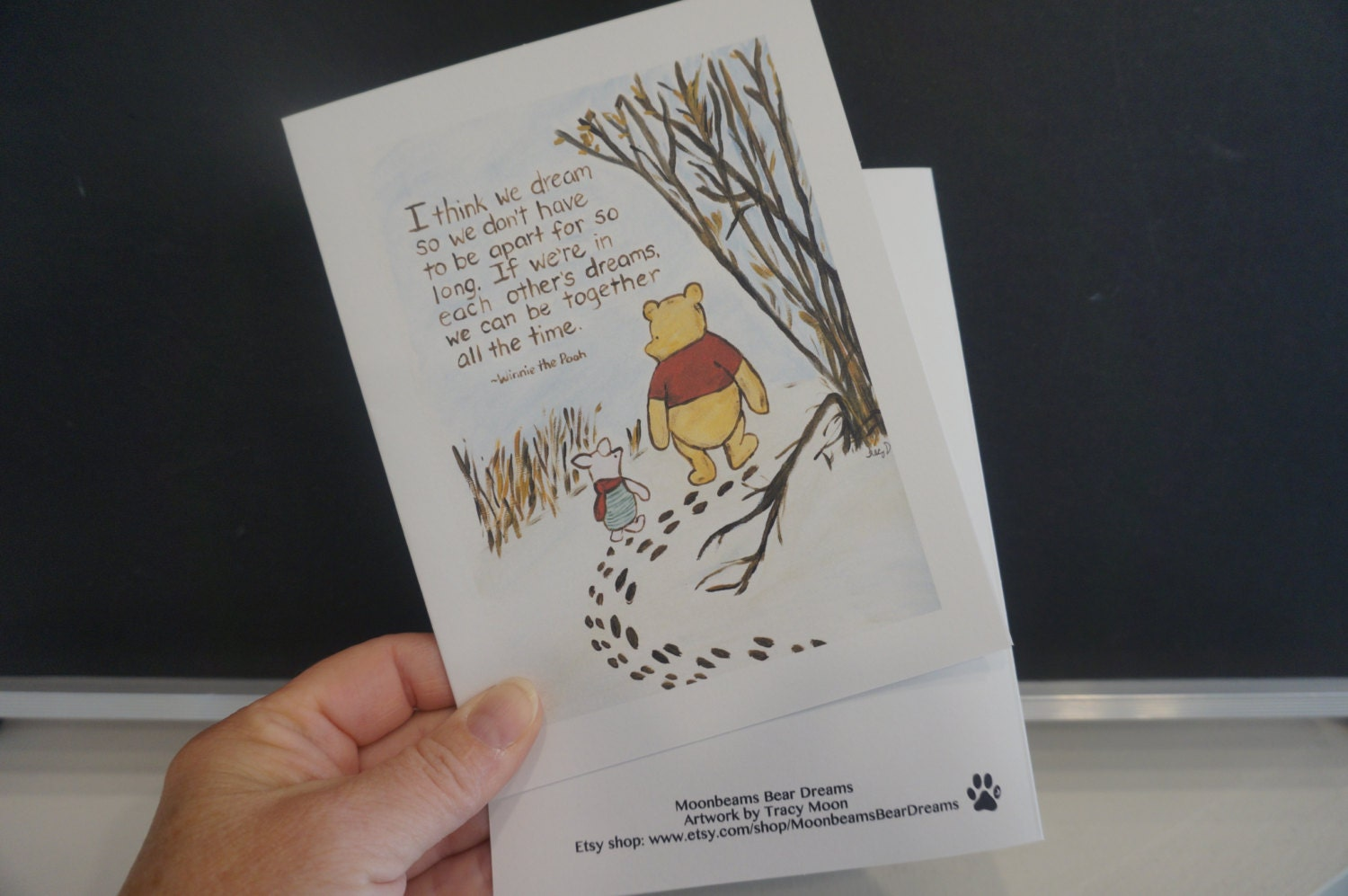 Classic winnie the pooh greeting card pooh quote about dreams zoom kristyandbryce Image collections