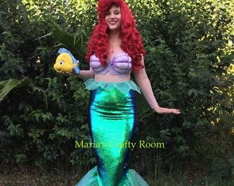 Ariel Mermaid Walking Tail Skirt