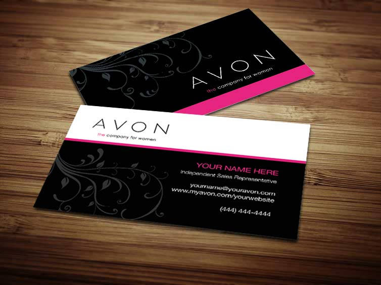 Avon business card design 5 zoom reheart Choice Image