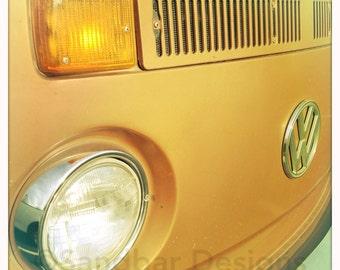 4 x 4 photo card-Bronze VW bus