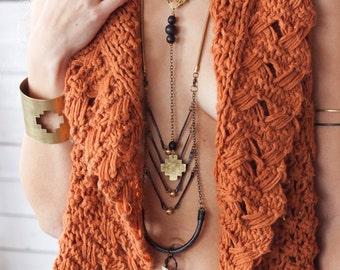 Chakana Cuff, Hand Fabricated Cut Brass, Vegan Jewellery, Organic Jewelry, Inca Cross, Andean Cross, Gypsy, Boho, Bohemian Wonder Woman Cuff