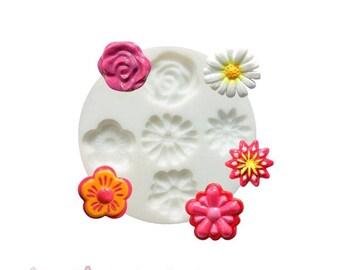1 MINI flower CREATIONS FIMO SCULPEY, CERNIT ref 284402 silicone mold