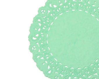 "MINT GREEN Paper Lace  Doilies | 4"" 5"" 6"" 8"" 10"" 12"" 14"" 16"" Sizes 