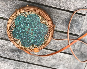 UNEISH round rattan with painting motif
