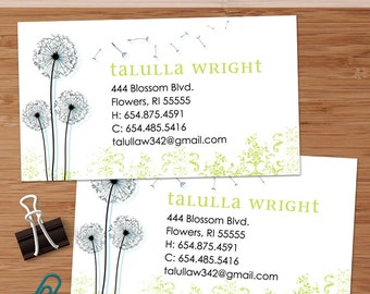 Dandy Dandelion - 50 Custom Business or Calling Cards