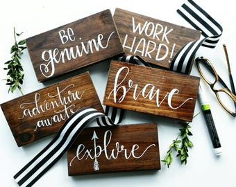 Word of the year small WOOD SIGN- Choose custom word