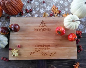 Customized Harry Potter Cutting Board, Marauder's Map, After all this time, Always,  BungalowBoo, Family, Deathly Hallows