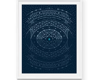 """Carl Sagan Cosmic Shores Art Print 