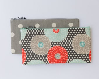 Zipper Tract Holder, repurposed rice bag, cosmetic bag, all purpose clutch, water resistant, purse insert