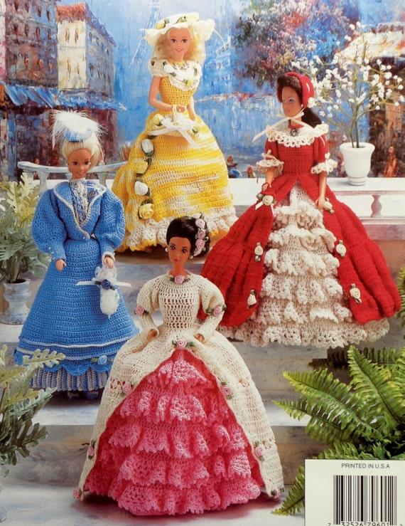 Crochet Pattern Annies Attic Fashion Dolls Victorian Gowns