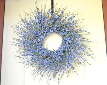 Lavender wreath -  Spring Wreath - Lavender look blossoms