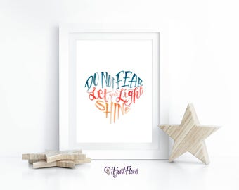 Fear Not - Let Your Light Shine Wall Art