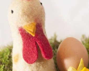 Rooster Felt Eggwarmer designed in Germany, handcrafted from Nepal