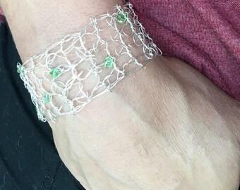 Wire Crochet Bracelet #2b