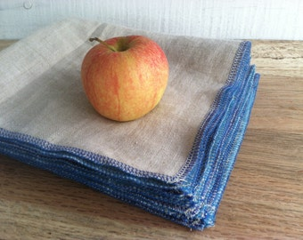 MOTHER'S DAY GIFTS, Pure Linen Napkins - Reusable Lunch Napkins - Each Sold Separately, Choose Your Quantity