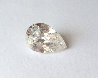 Pear cubic zirconia CZ stone 12x8mm