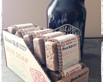 Beer Soap - Black H2O Oatmeal Stout Beer Soap, Minneapolis Town Hall Beer Soap, Father's Day, Men's Soap, Gifts for Him, Gifts for Men