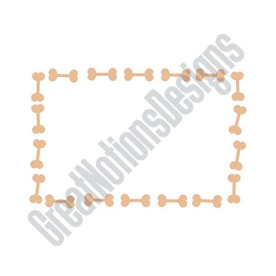 Dog Bone Frame SVG - HTV - Vinyl Cutting Graphic Art from ...