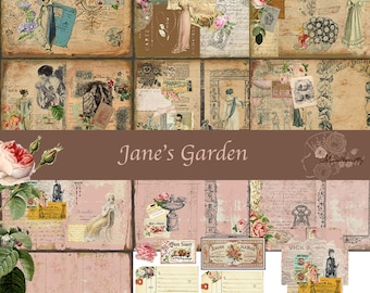 Jane's Garden (Digital paper)