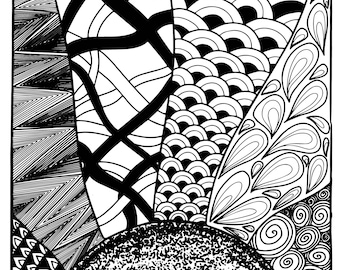 Handmade Doodle for Colouring | Coloring Page | Adult Colouring
